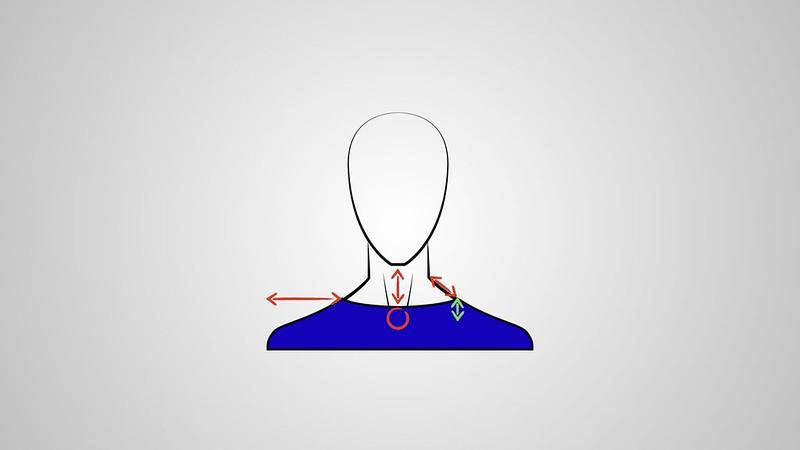 Cuello redondo en hombres