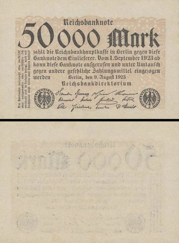 50 000 nemeckých mariek Nemecko 1923, P99