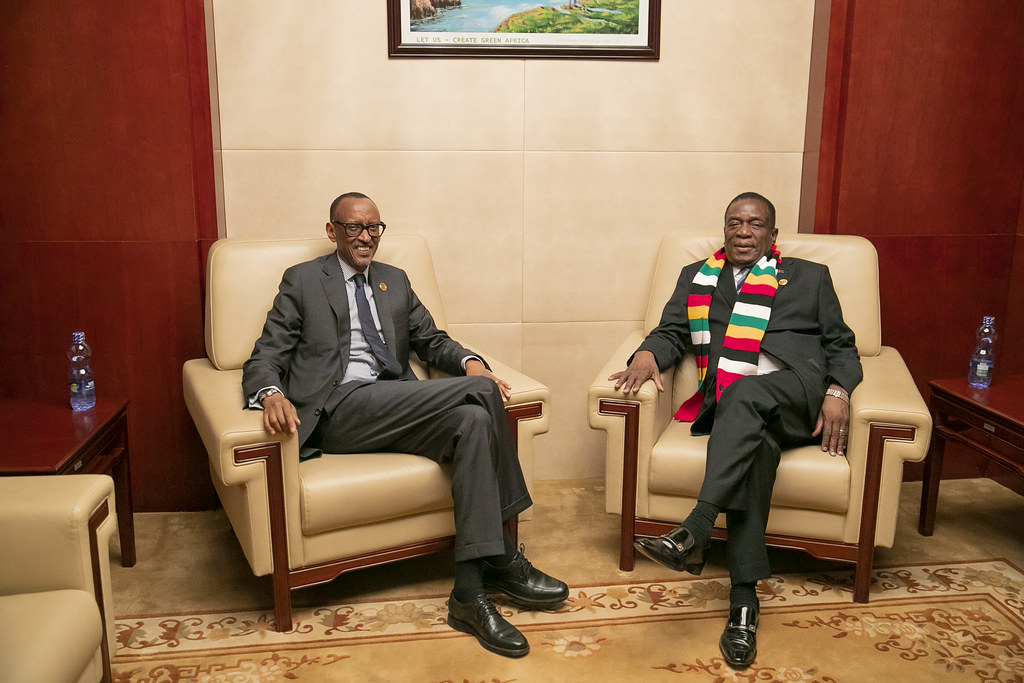 Image result for President Mnangagwa and President Paul Kagame