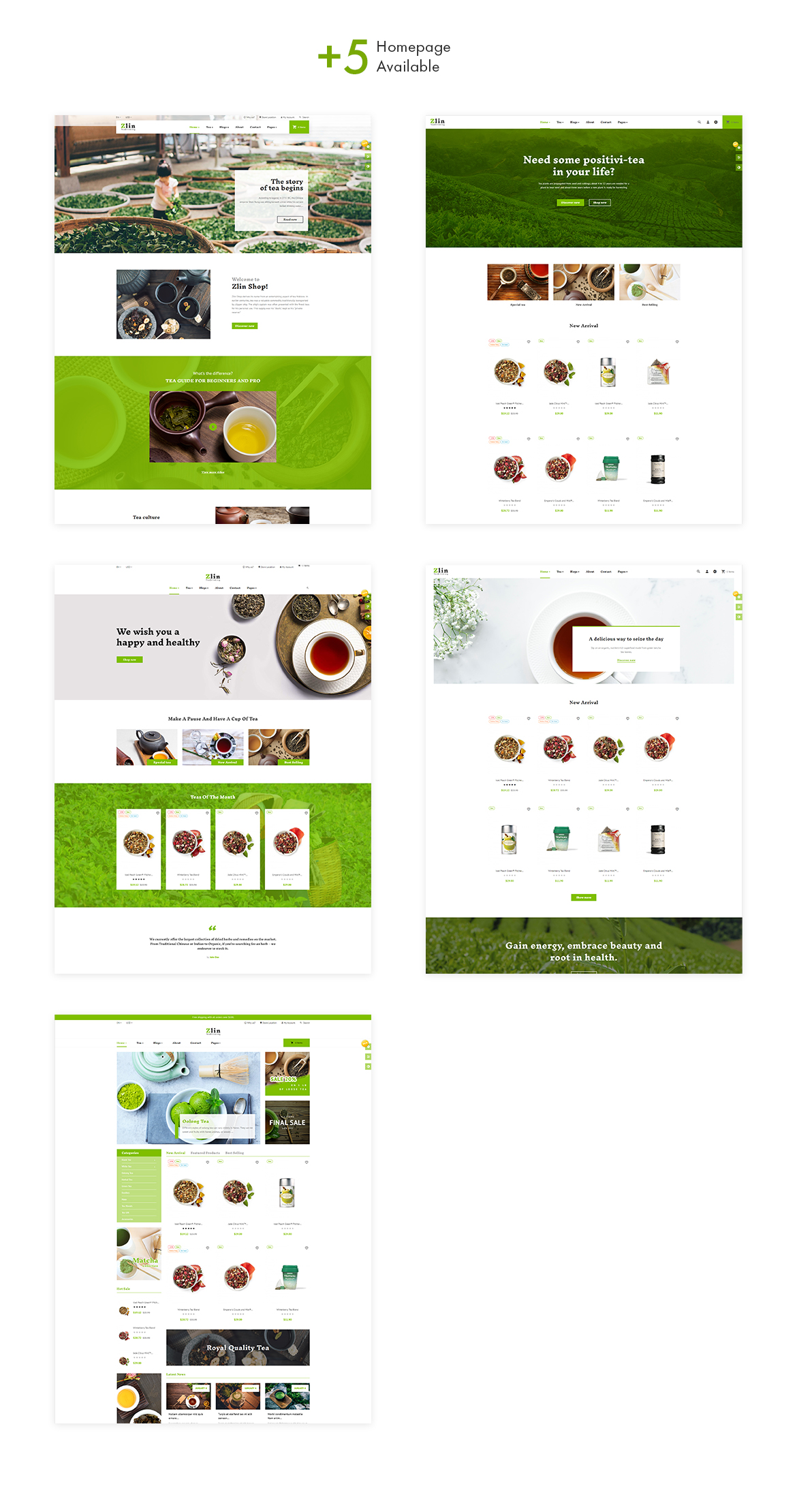 multi homepage - Leo Zlin - Tea Shop Prestashop Theme