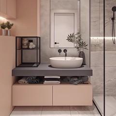contemporary bathroom design, modern bathroom decorating idea