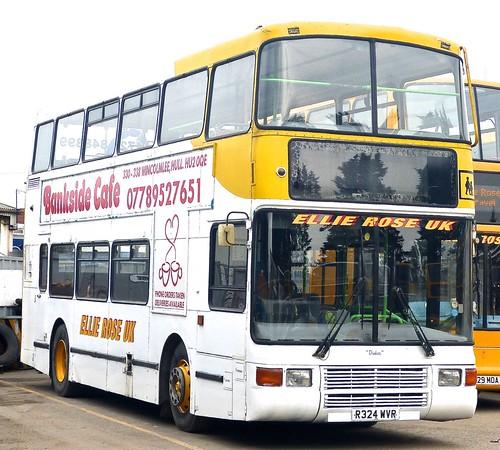R324 WVR  'Ellie Rose Travel Ltd.', 'Ellie Rose UK'. Volvo Olympian / Northern Counties Palatlne 2 on Dennis Basford's railsroadsrunways.blogspot.co.uk'