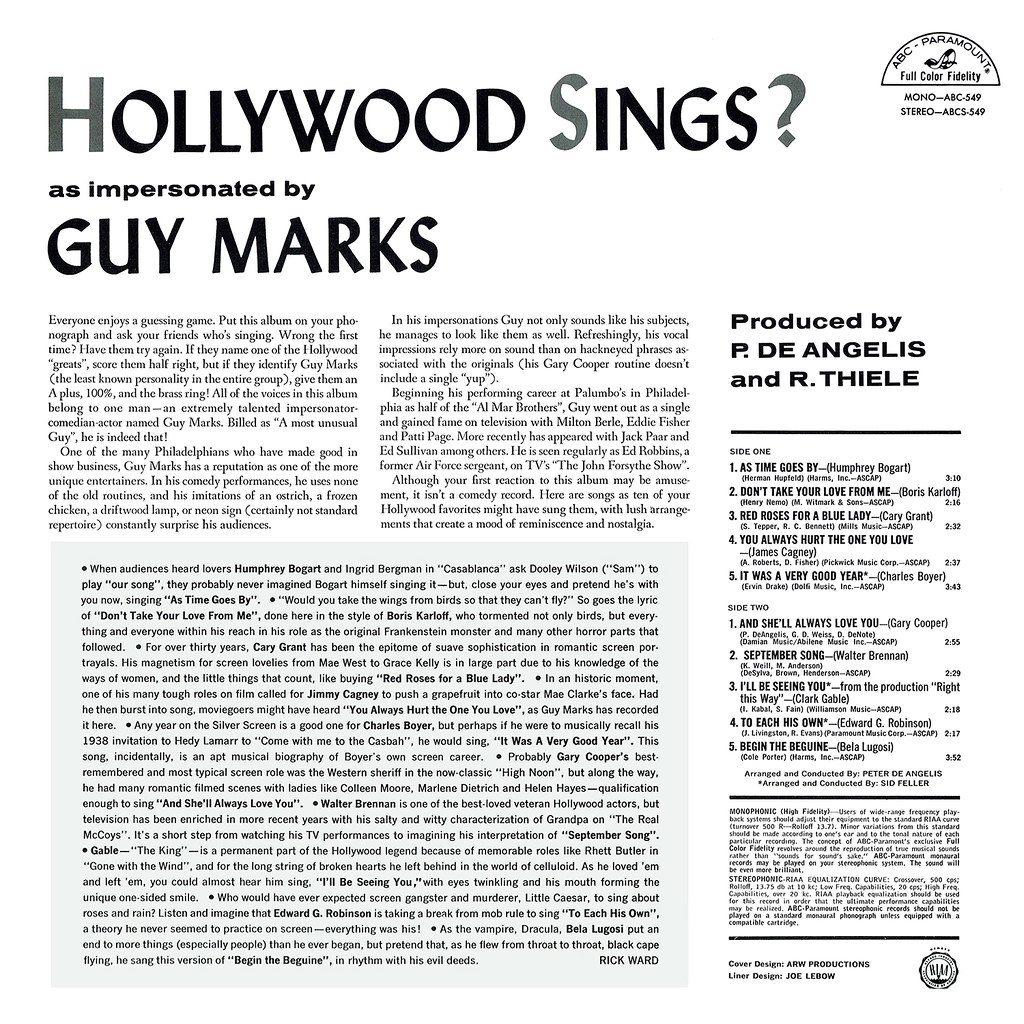 Guy Marks – Hollywood Sings