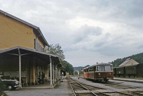 GKB railcars at Wies-Eibiswald