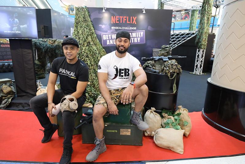 PASKAL stars, Ammar Alfian and Taufiq Hanafi at the Netflix #PaskalChallenge event