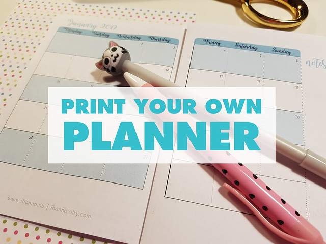 Printable planner in A6 size