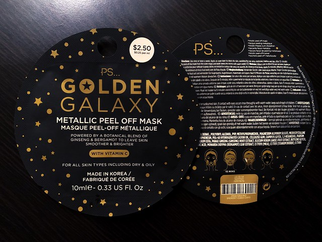 Korean Golden Galaxy Peel Mask
