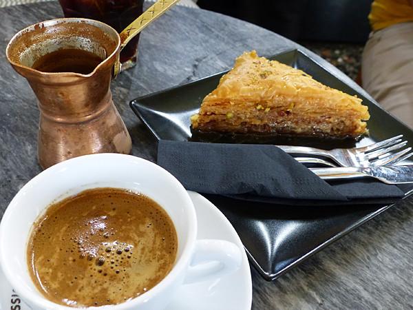 café turc et baklava
