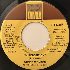 STEVIE WONDER:SUPERSTITION(LABEL SIDE-A)