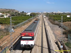 Tren de Cercanías de Renfe (Línea C-6) a su paso por LA LLOSA (Castellón)