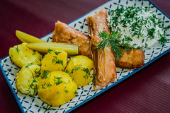 Freshly Smoked Salmon With curd And Potatoes