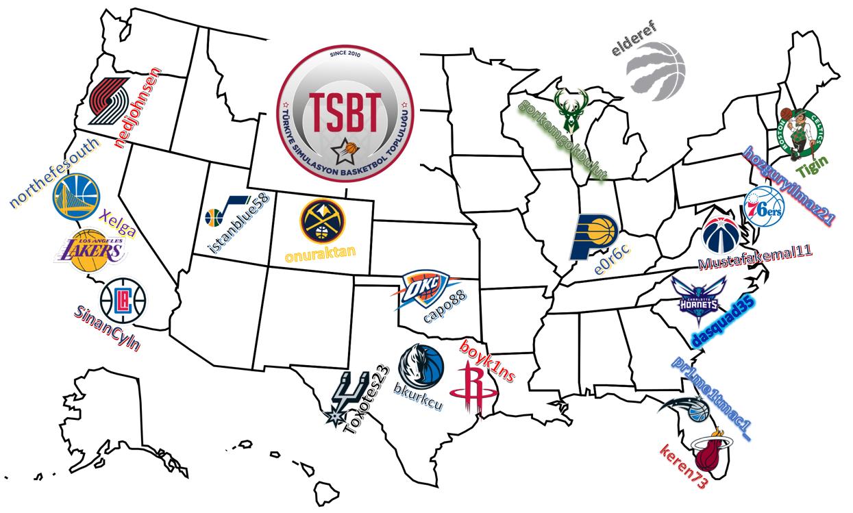 TSBT 38. Sezon Takım Seçimleri Haritası