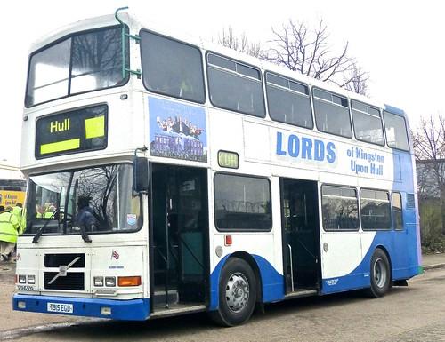 T915 EGD 'Lords of Kingston upon Hull'. Volvo Olympian / Alexander (Belfast) RH on Dennis Basford's railsroadsrunways.blogspot.co.uk'