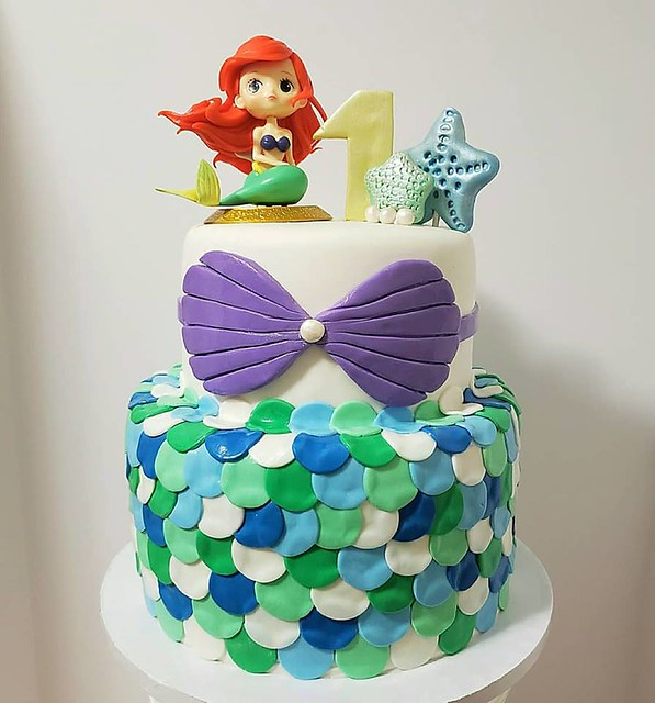 Little Mermaid Theme Cake by Sugar Junkies Bakery Inc.