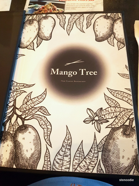 Mango Tree restaurant menu cover