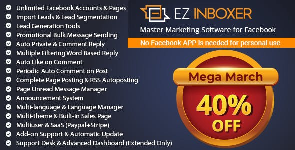 EZ Inboxer v7.0.2 - Master Messenger Marketing Software For Facebook