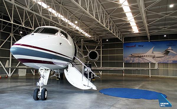 Aerocardal hangar nuevo y Gulfstream G500 (RD)