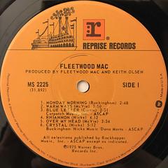 FLEETWOOD MAC:FLEETWOOD MAC(LABEL SIDE-A)