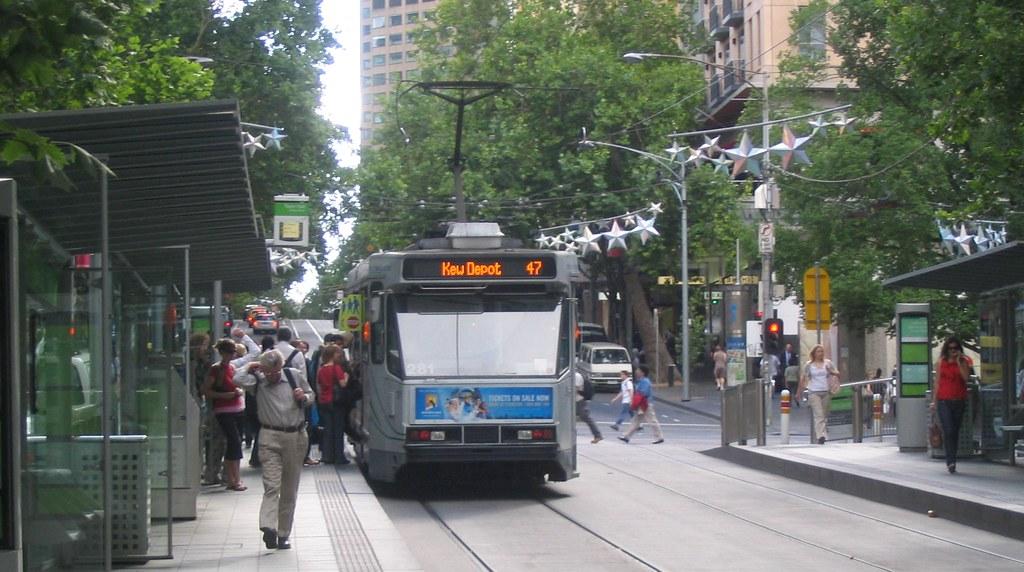 Tram in Collins Street, December 2008