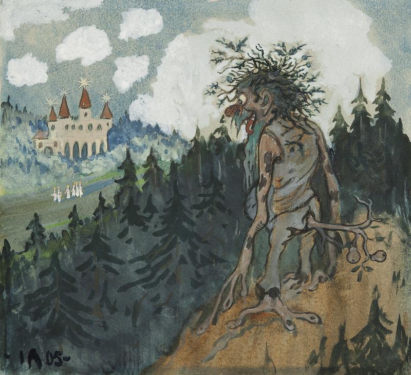 Ivar Arosenius - The story of the six princesses, 1905, illustration 1