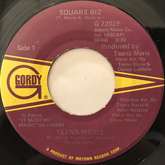 TEENA MARIE:SQUARE BIZ(LABEL SIDE-A)