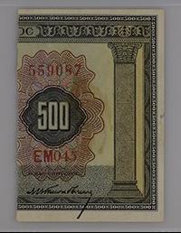 1926 Greece, National Bank 500 Drachmai