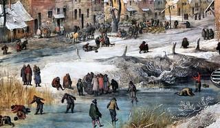 IMG_5614A Joos de Momper le Jeune. 1564-1635  Anvers  Un village en hiver. A Village in Winter.  Hamburg Kunsthalle.
