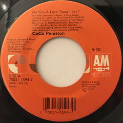 CECE PENISTON:WE GOT A LOVE THANG(LABEL SIDE-A)