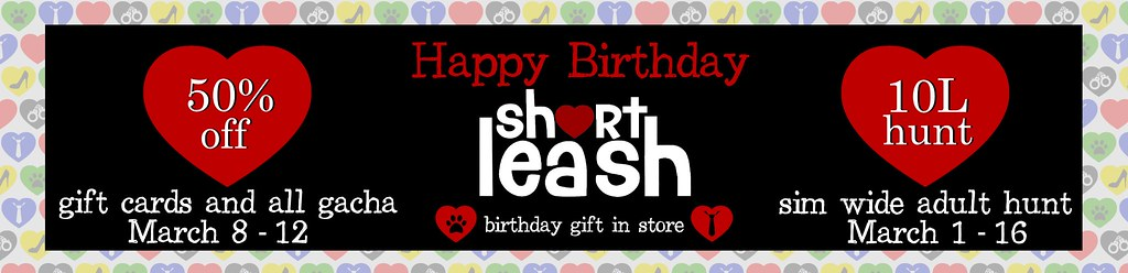 .:Short Leash:. Happy Birthday Sale