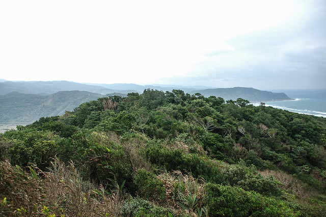 登山步道俯瞰九棚山北峰