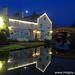 2-365-142 Lymm Bridge and Cottage dusk in winter
