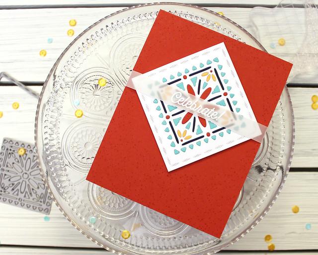 LizzieJones_PapertreyInk_January2019_CornerAdornerJanuary_ShapeShiftersSquare_Celebrate!Card