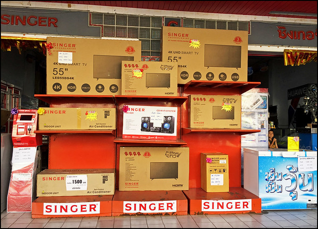 Singer Electronic Display in old Phuket Town