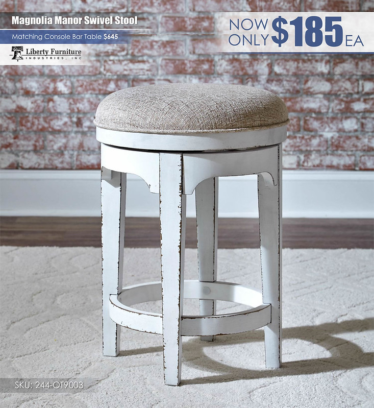 Magnolia Manor Console Swivel Stool_244-OT9003