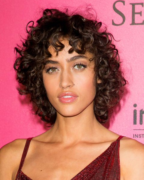 CURLY HAIR CUTS ROUND FACE- 2019 HAIR CUTS 1