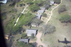 Ndutu Safari Lodge from the air, Tanzania