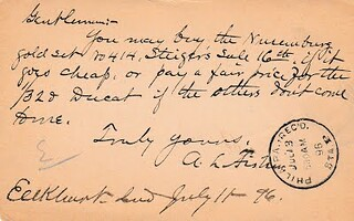 A. L. Fisher postcard to Chapmans