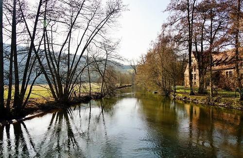 Das Flüsschen Sinn bei Schaippach - The small river Sinn nearby the village Schaippach