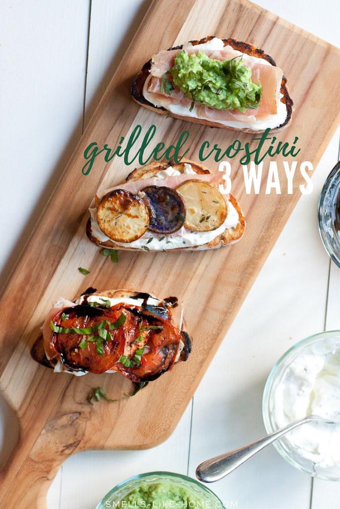 Grilled Crostini 3 Ways
