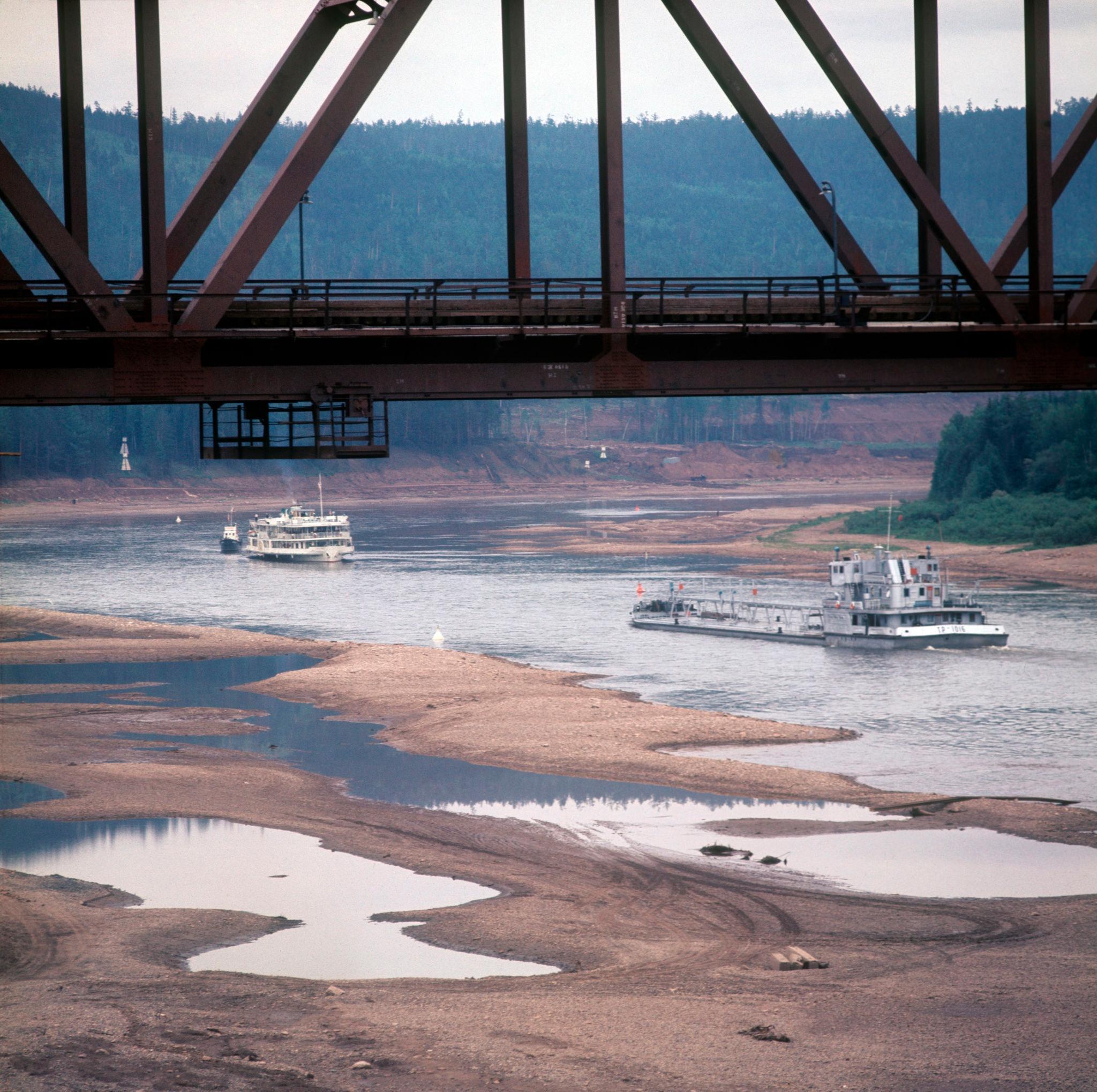 1970-е. Усть-Кут, мост на БАМе через Лену