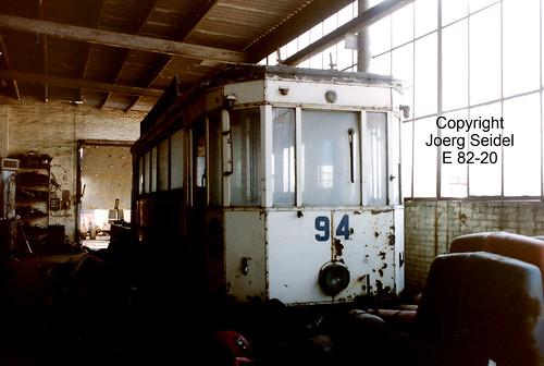 BE-3630 Maasmechelen Armand Lowie Tramway Verviers 94  im März  1991