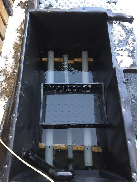 Foto 1.1 - Marco de la Penha - In het plantenfilter wordt onderin het water gepompt en er is een afvoer om te spoelen