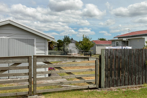 Living with geothermal activity in back yrads of Rotorua, New Zealand