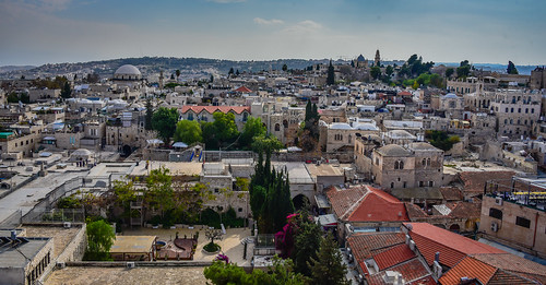 old city viewed from bell tower church redeemer jerusalem israel jerusalemdistrict il jlm middleeast middle east altstadt historic ancient יְרוּשָׁלַיִם