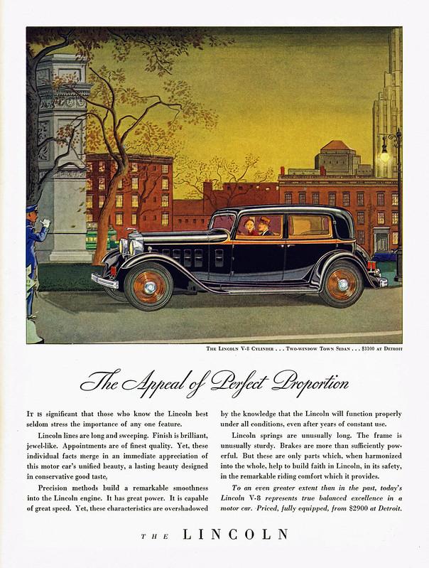 1932 Lincoln Two-window Town Sedan
