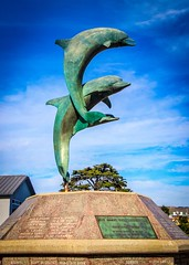 Cayucos Dolphins Statue
