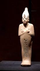 Chaouabti en calcaire de Toutânkhamon portant la couronne blanche, 1336-1326 av. J.-C.