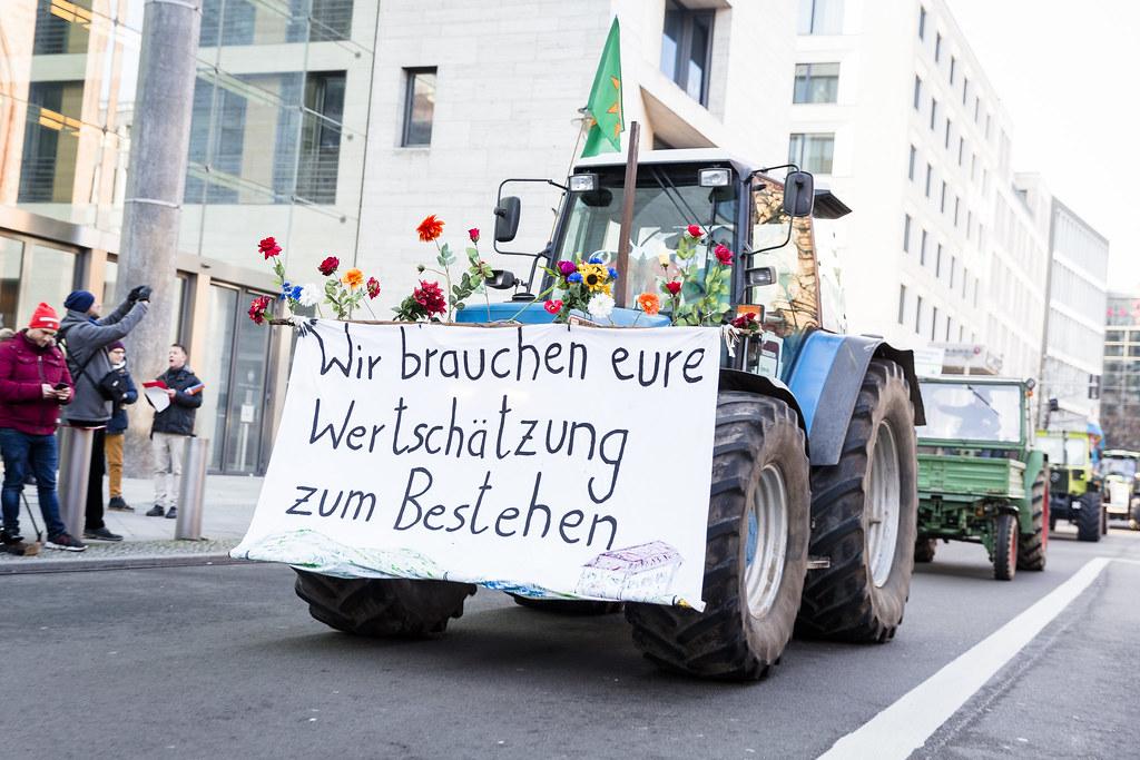Bauernprotest bei Agrarministergipfel