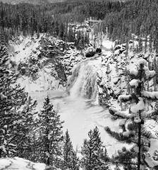 Upper Yellowstone Falls and Chittenden Memorial Bridge