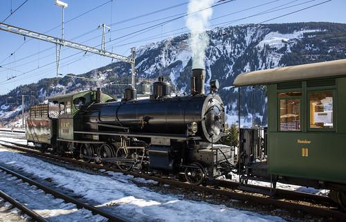 Rhätische Bahn RhB 107 Disentis-Mustér 17 februari 2019